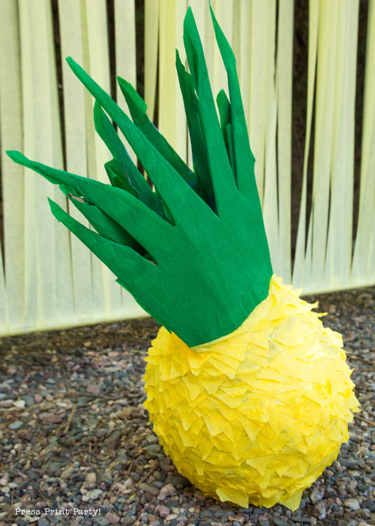 Party like a Pineapple -Pineapple party - Luau Party -Pineapple pinata- by Press Print Party!