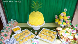 Party like a Pineapple -Pineapple party - Luau Party - Pineapple cake - by Press Print Party!