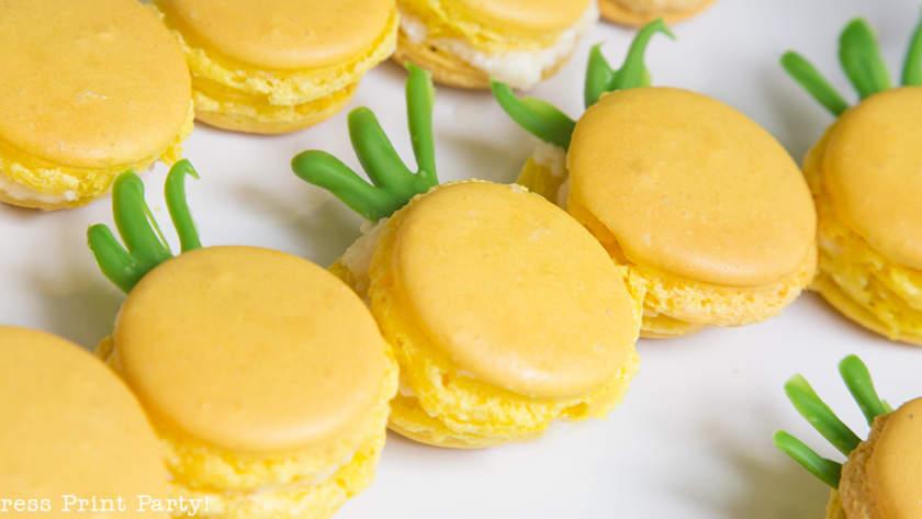 How to Make Pineapple Macarons
