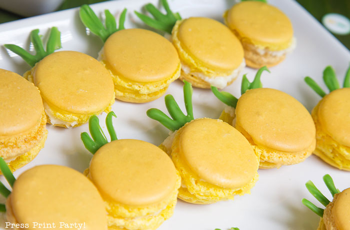 Party like a Pineapple -Pineapple party - Luau Party - Pineapple macarons - by Press Print Party!