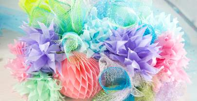 How to Make a Striking Tabletop Coral Reef Decoration for your Mermaid or Under the Sea Party
