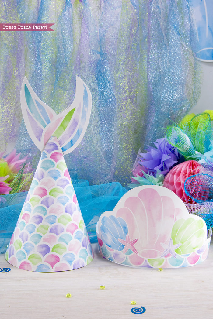 Mermaid party printables. Under the Sea Party - by Press Print Party!
