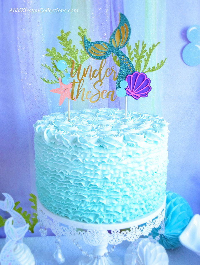 Printable Mermaid Cake Topper