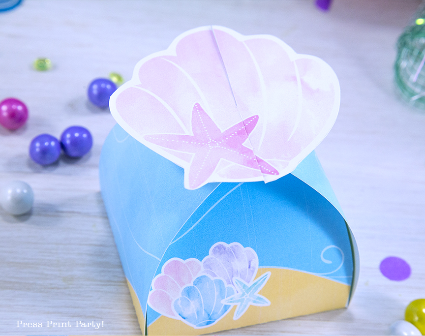 Decorate your Mermaid Party like a Pro! by Press Print Party! Favor Box