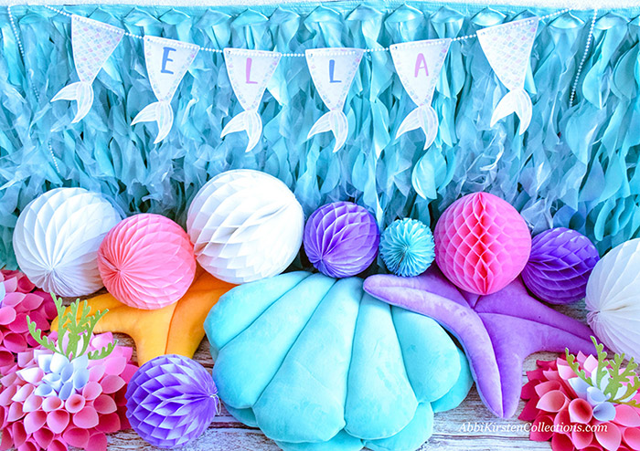Decorate your Mermaid Party like a Pro! by Press Print Party! Mermaid Themed party - Mermaid party supplies - mermaid printables
