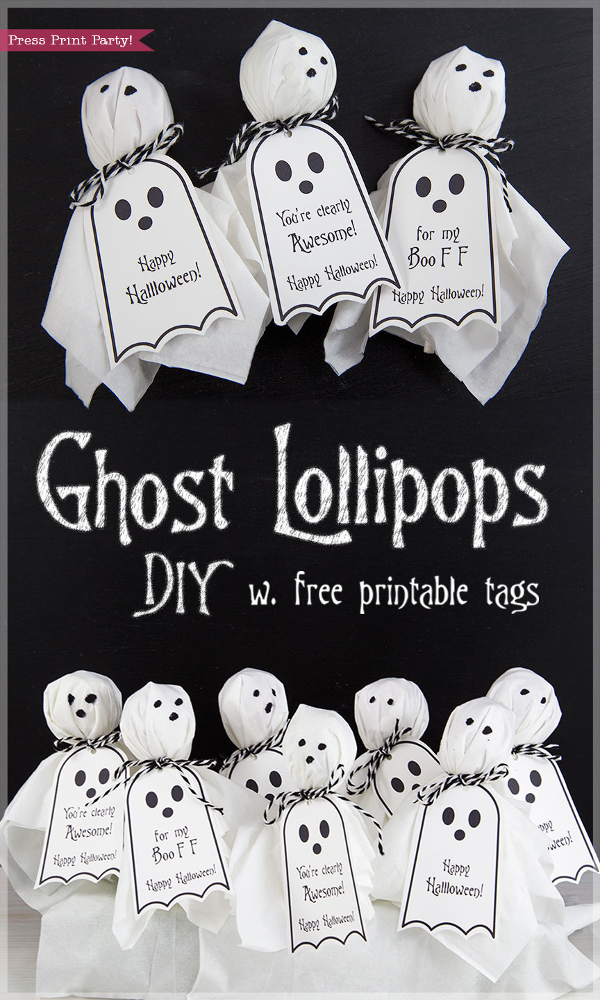 ghost lollipops w free halloween printable tags by press print party