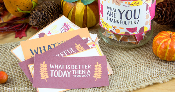 Free Thanksgiving Printable Conversation Cards - By Press Print Party!