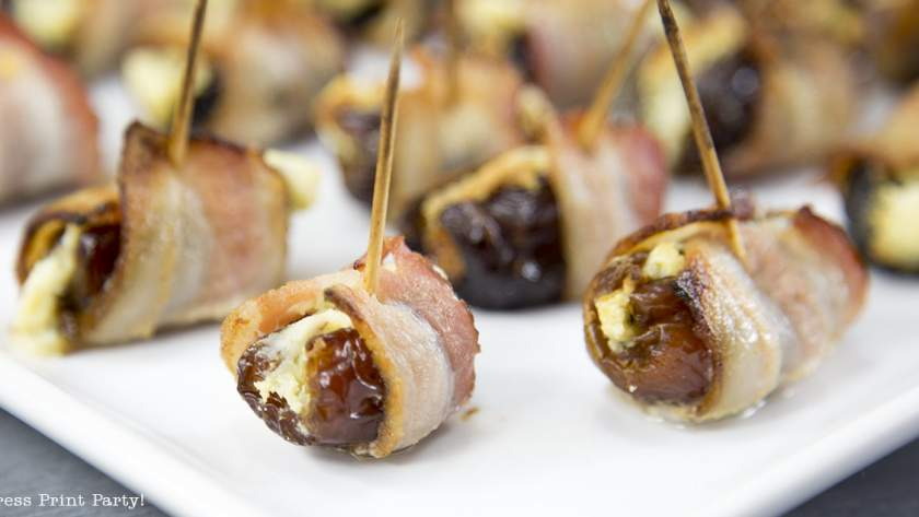 Bacon Wrapped Dates and Prunes