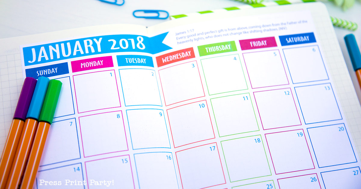 Bullet Journal Monthly Calendar : Free calendar for you bullet journal by press print
