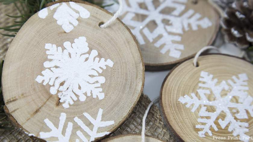 Rustic Wood Snowflake Ornament DIY – Holiday Party Hop!
