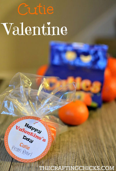 35 Easy No-Candy Valentines with Free Printables by Category - Curated by Press Print Party! cutie valentine label for classmates for school