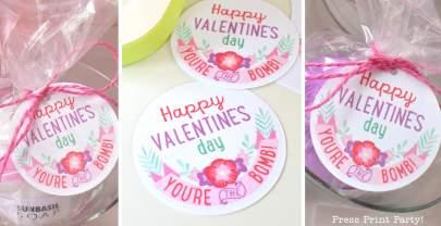 FREE Valentine's Day Bath Bombs Printable Tags