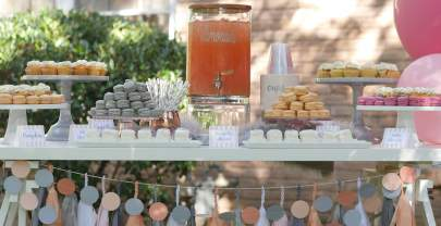 Stunning Peach and Gray Garden Party