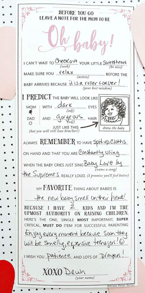 photo regarding Baby Shower Mad Libs Printable referred to as Hilarious Boy or girl Shower Crazy Libs Printable Guidance Playing cards- Force