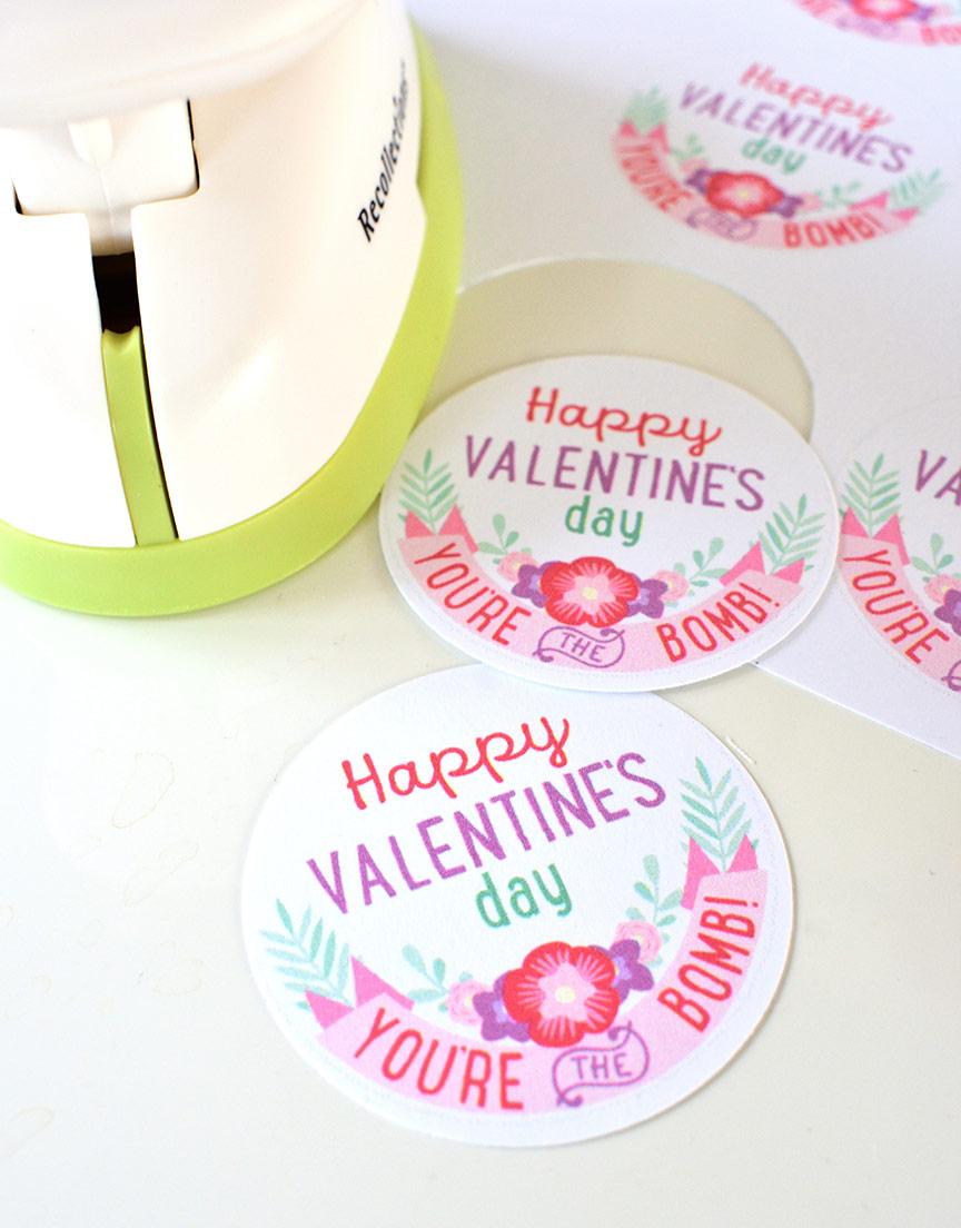 FREE Valentine's Day Bath Bombs Printable Tags - Press Print