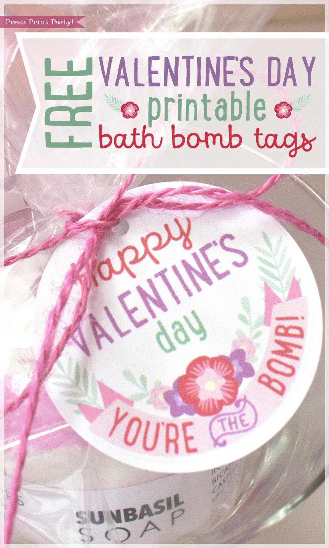 Free Valentine S Day Bath Bombs Printable Tags Press