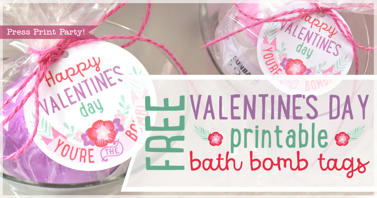 image about Valentine's Day Tags Printable referred to as Totally free Valentines Working day Bathtub Bombs Printable Tags - Push Print