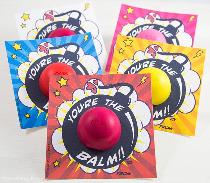 Free EOS Balm Valentine's Day Card Printables - By Press Print Party!