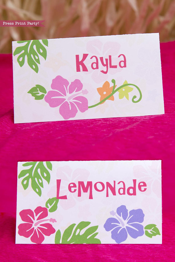 picture regarding Place Card Printable known as Pineapple Themed Occasion Issue Card Printables