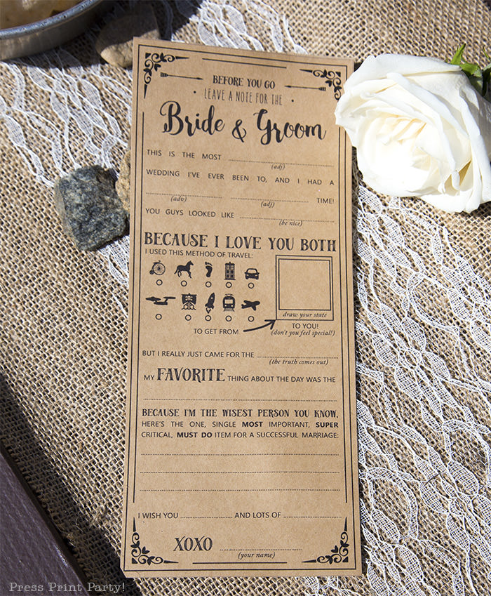 A breathtaking rustic barn wedding - country wedding - Press Print Party! Mad Libs