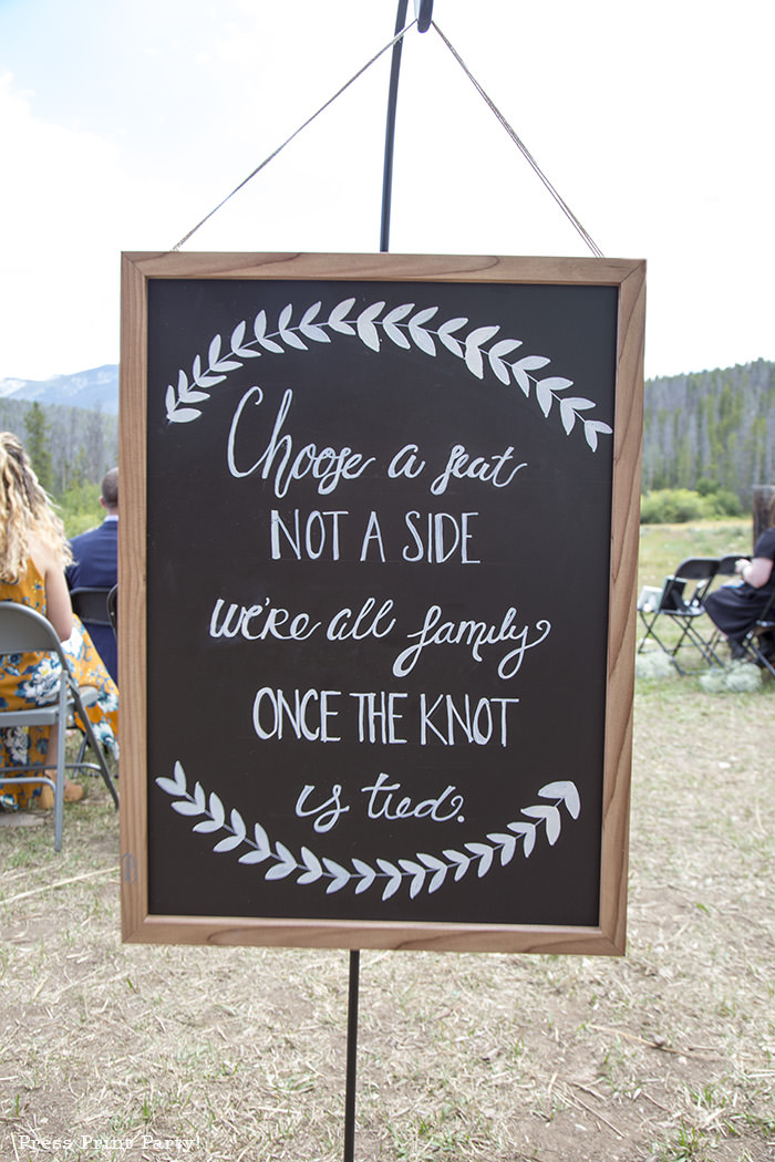 A breathtaking rustic barn wedding - country wedding - Press Print Party! chalkboard sign