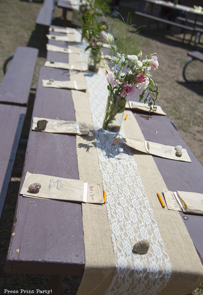 A breathtaking rustic barn wedding - country wedding - Press Print Party! table decorations