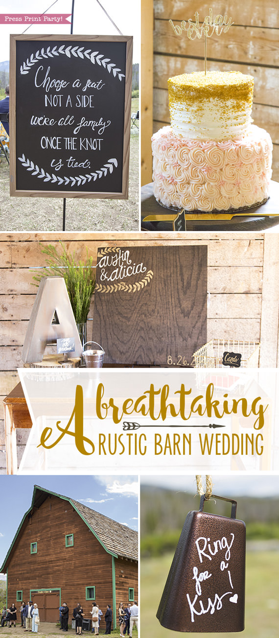 A breathtaking rustic barn wedding - country wedding - Press Print Party!