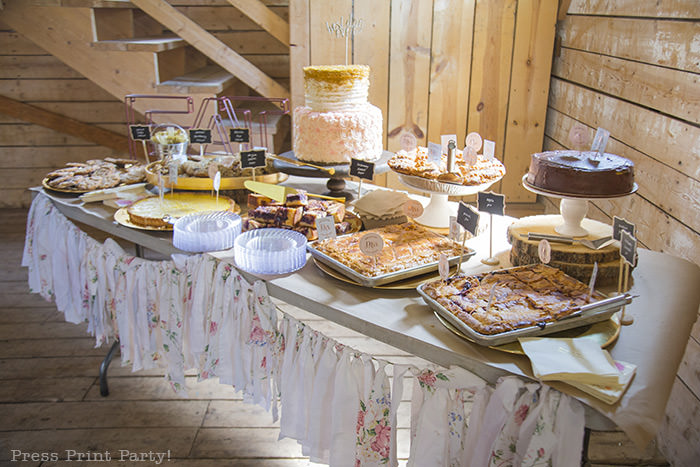 A breathtaking rustic barn wedding - country wedding - Press Print Party! cake table