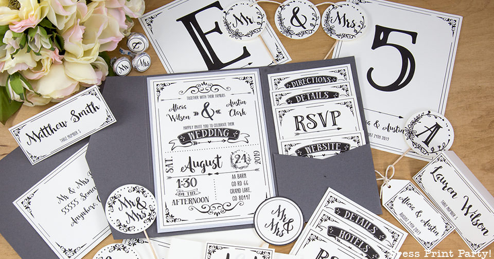 Free Rustic Wedding Invitation Templates: Rustic Wedding Invitation Template (DIY)