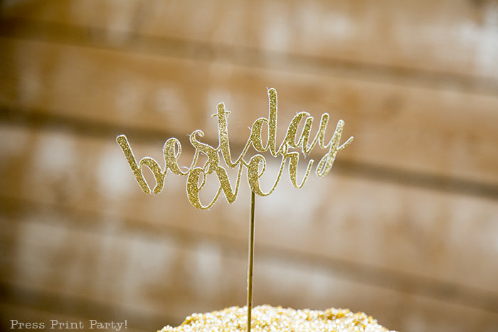 A breathtaking rustic barn wedding - country wedding - Press Print Party! cake topper