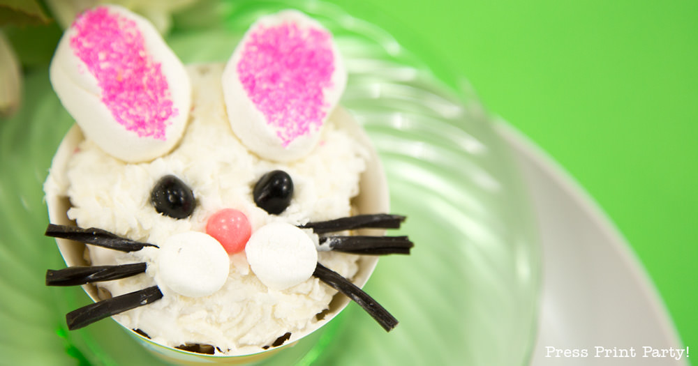 DIY Easter Bunny Cupcake decoration ideas - Press Print Party!