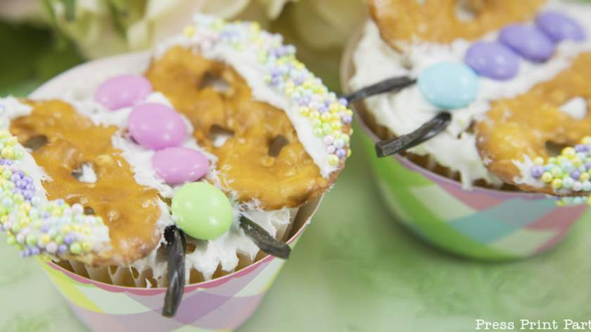 Simple Butterfly Cupcakes DIY