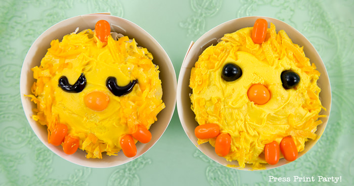 Cute Little Chicks Easter Cupcakes