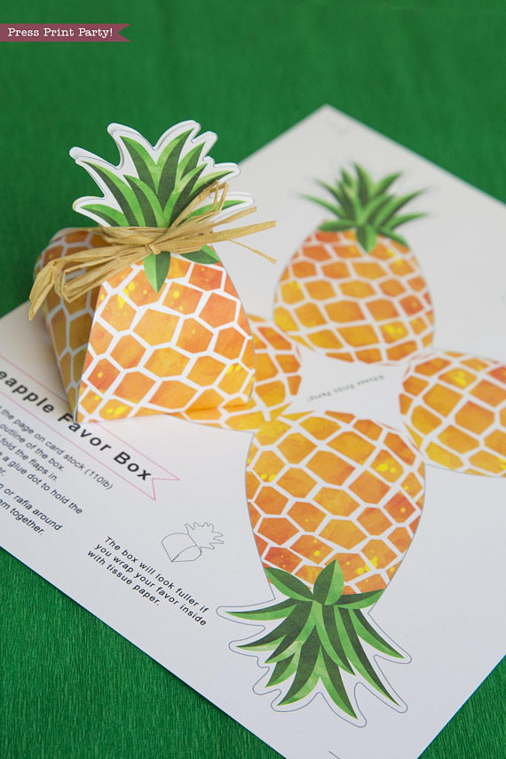 photo about Printable Pineapple named Pineapple Occasion Desire Box printable, Luau