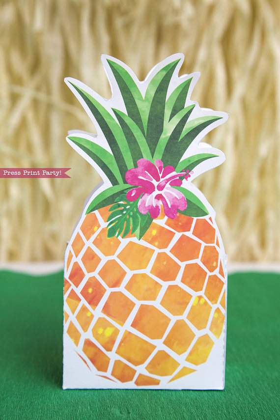 picture regarding Printable Pineapple titled Pineapple Like Box Printable