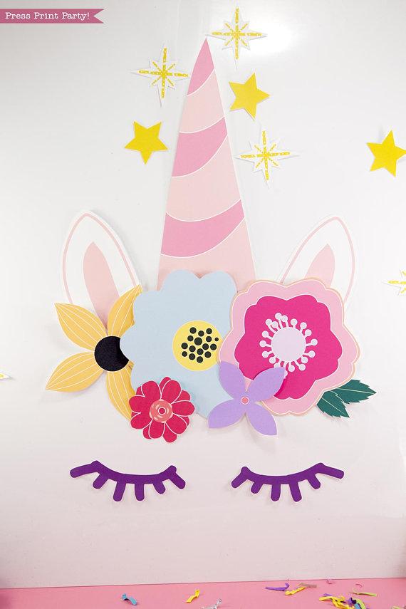 unicorn party birthday printable set