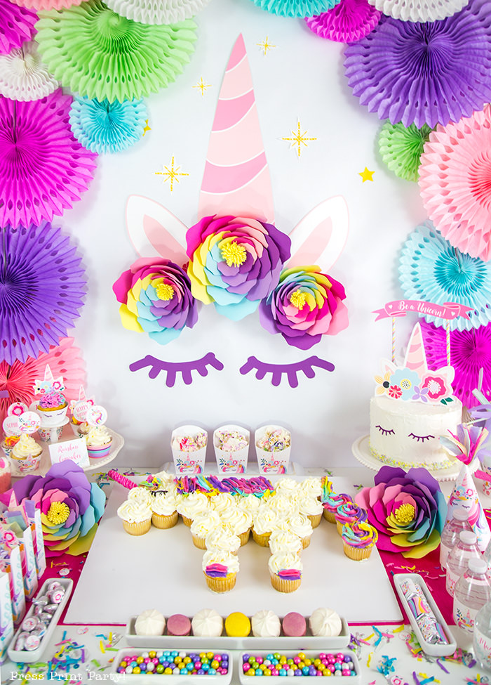 All In A Super Cheery DIY Unicorn Party That Will Have Little Girls Squealing Delight