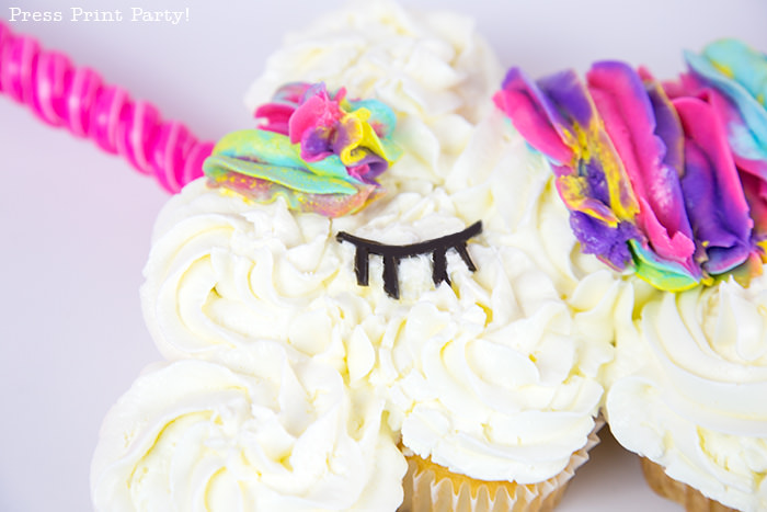 How To Make A Unicorn Cupcake Cake Press Print Party