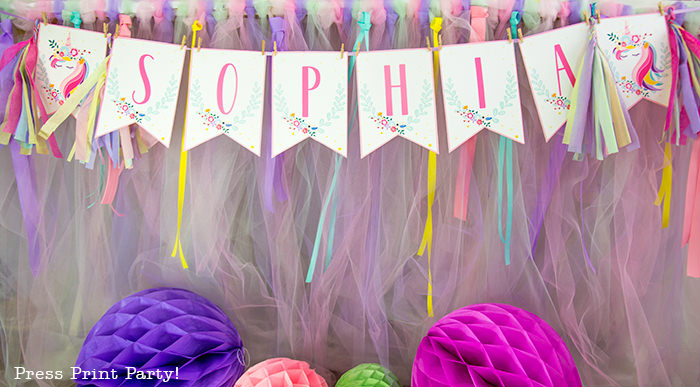 Truly Magical Unicorn Birthday Party Decorations (DIY