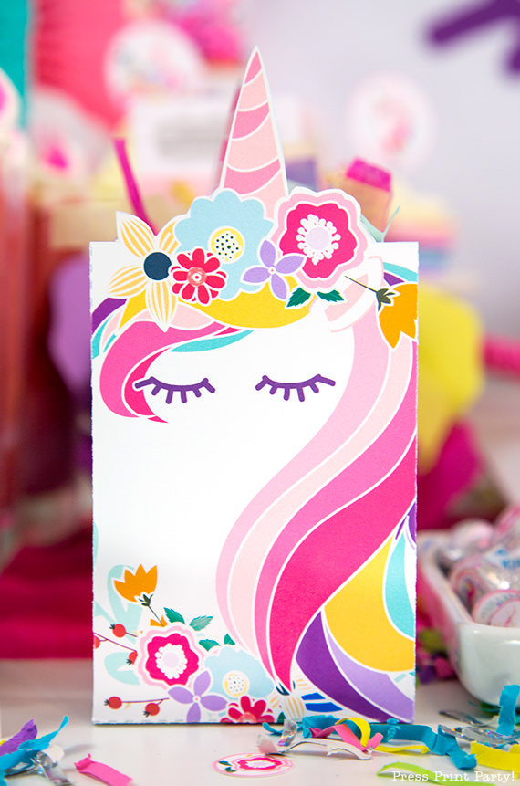Truly Magical Unicorn Birthday Party Decorations DIY Press Print