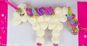 Unicorn cupcake cake DIY - Press Print Party!