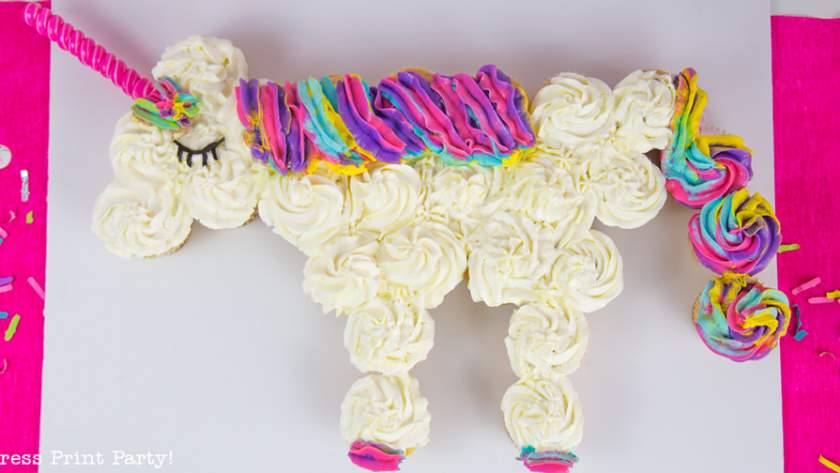 How to Make a Unicorn Cupcake Cake