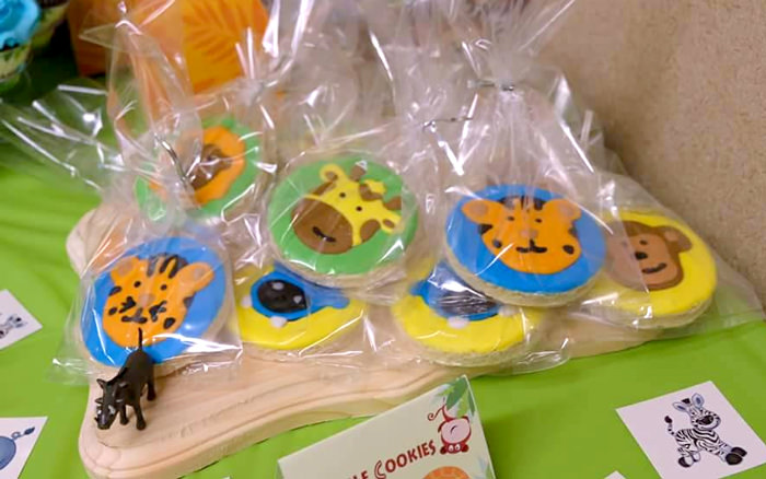Jungle party cookies
