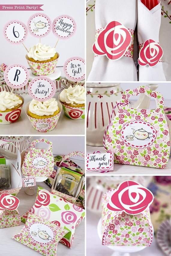Tea Party Printables, Tea Party Decorations