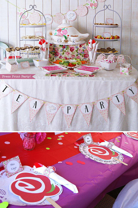 Tea Party Printables, Tea Party Decorations