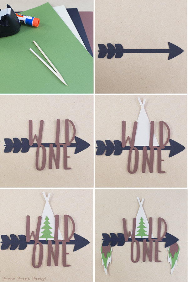 Wild one cake topper 8 steps