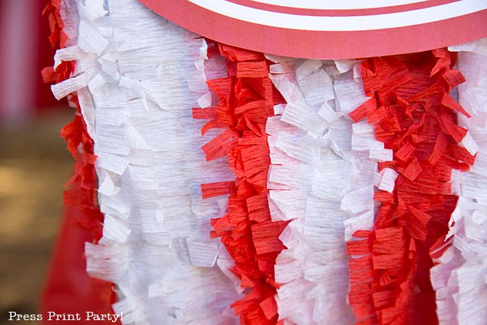 Close up of Popcorn box pinata.