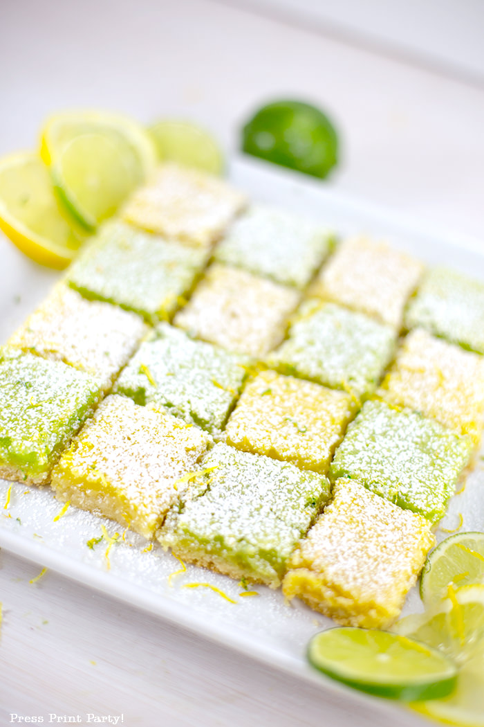 yellow lemon and green lime squares in checkerboard fashion