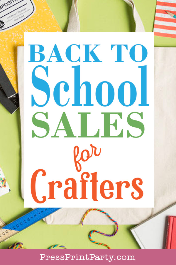 Back to school sales for crafters by Press Print Party!
