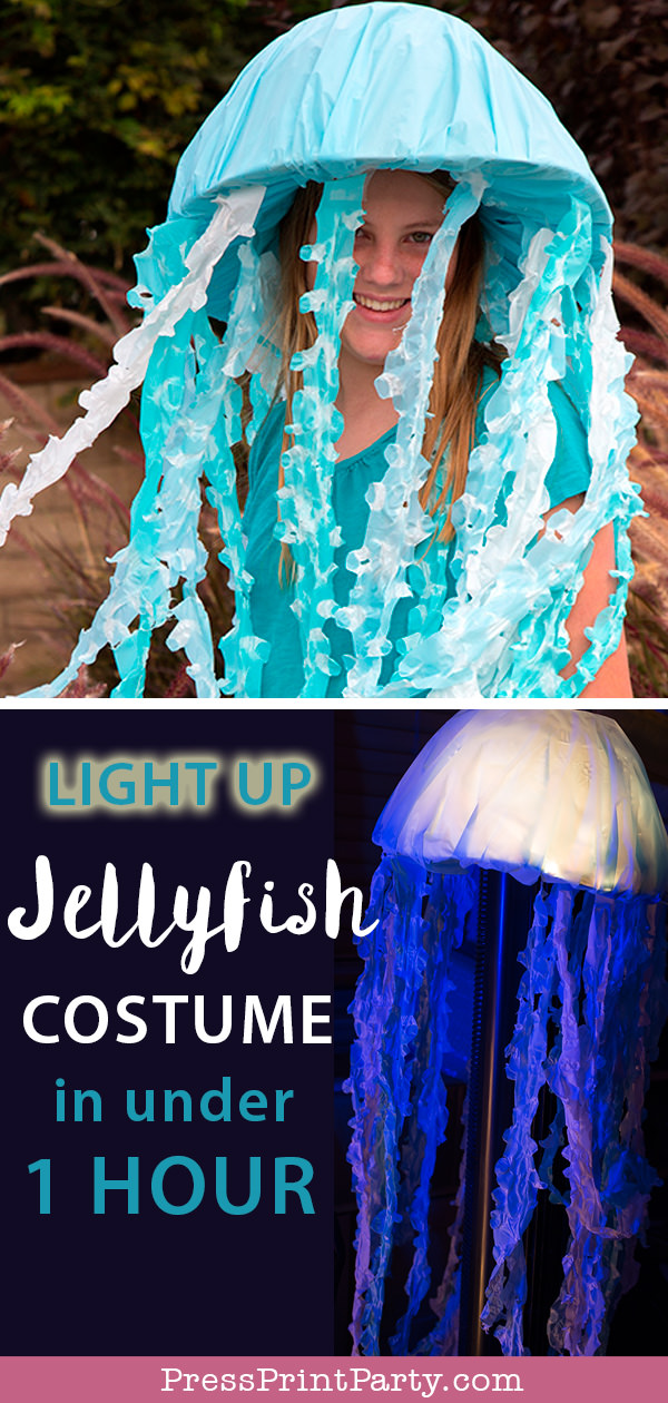 Light up Jellyfish Costume DIY - Press Print Party!